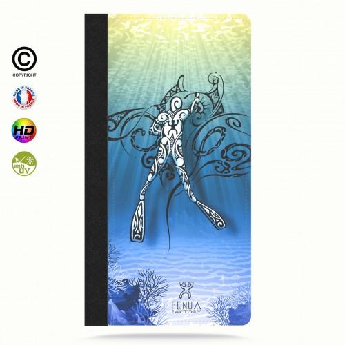 Etui Porte cartes galaxy S4 Diving Under the Sea