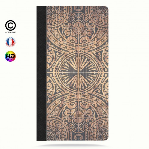 Etui Porte cartes galaxy S4 tribal bamboo