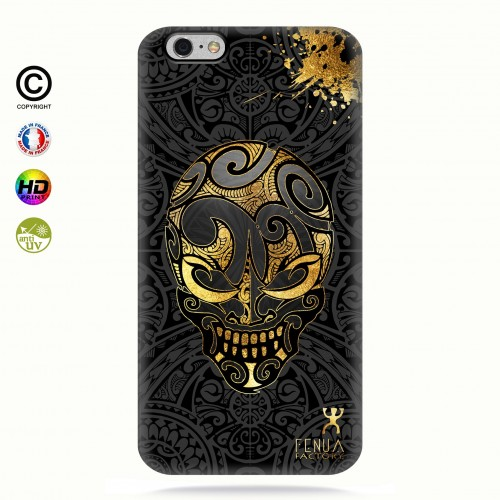 coque iphone 6+/6S+ Gold Skulls