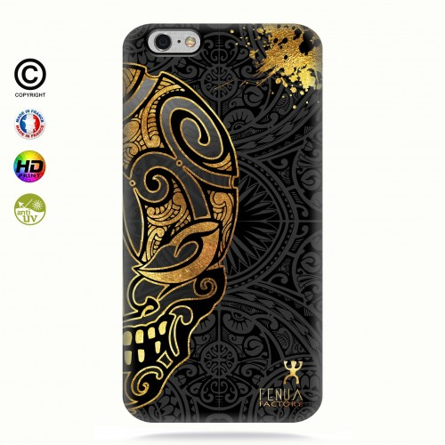coque iphone 6+/6S+ Mid Gold Skulls