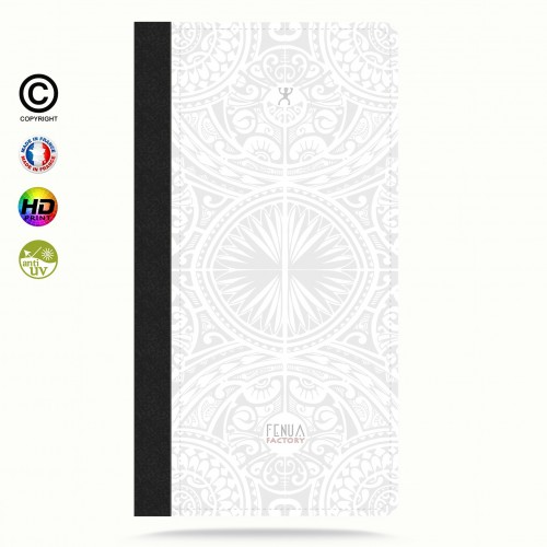 Etui Porte cartes galaxy S4 tribal frieze b&w +