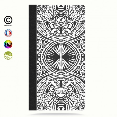 Etui Porte cartes galaxy S4 tribal frieze b&w