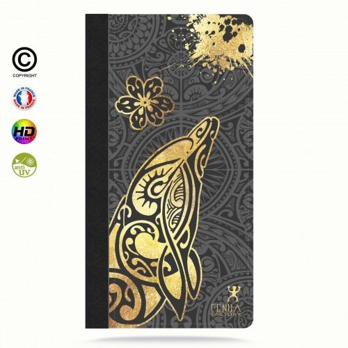 Etui Porte cartes galaxy S6 Dauphin Gold