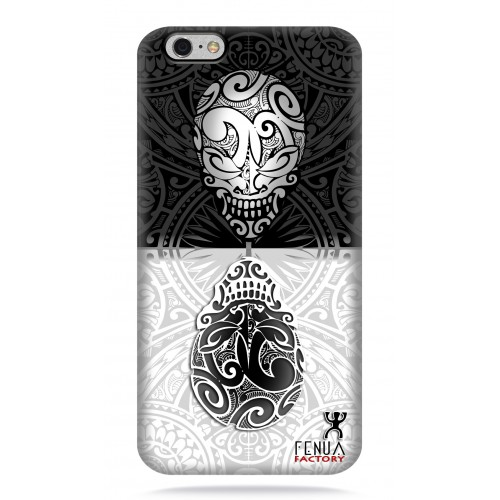 coque iphone 6-6s B&W Skulls Mirror