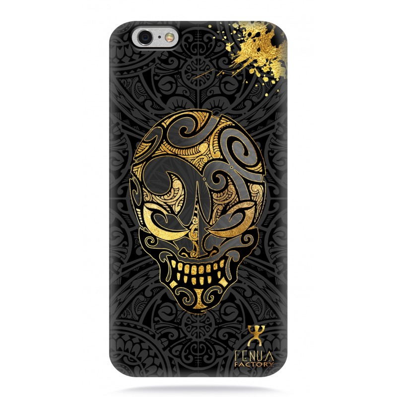 coque iphone 6-6s Gold Skulls
