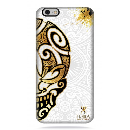 coque iphone 6-6s Mid Gold Skulls