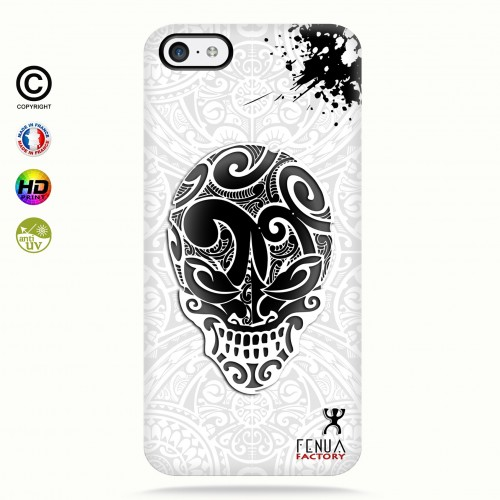 coque iphone 5c B&W Skulls