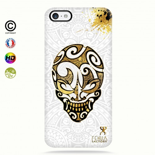 coque iphone 5c Gold Skulls