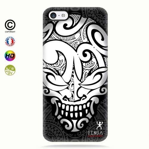 coque iphone 5c Big B&W Skulls