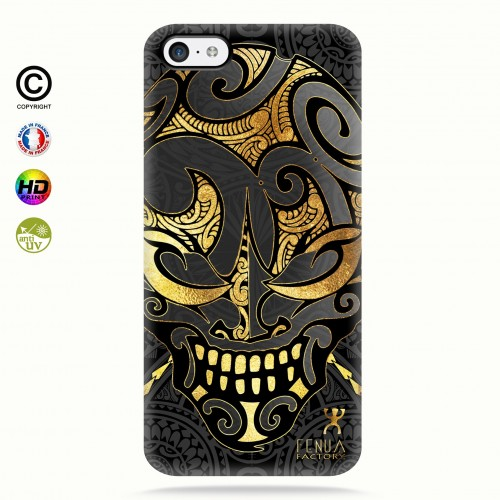 coque iphone 5c Big Gold Skulls