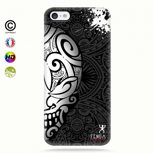 coque iphone 5c Mid B&W Skulls