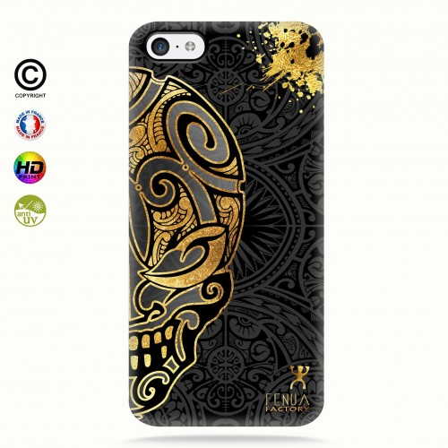 coque iphone 5c Mid Gold Skulls