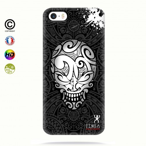 coque iphone 5-5s-5se B&W Skulls