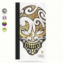Etui Porte cartes galaxy S7 Big Gold Skulls