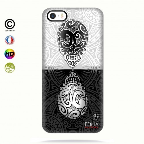 coque iphone 5-5s-5se B&W Skulls Mirror