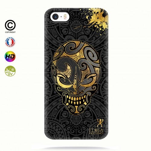 coque iphone 5-5s-5se Gold Skulls