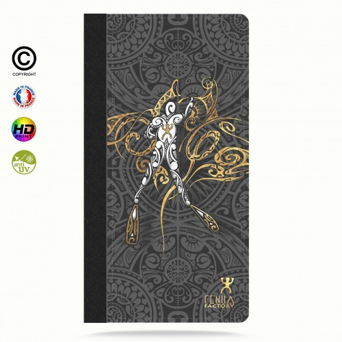 Etui Porte cartes galaxy S7 gold diving