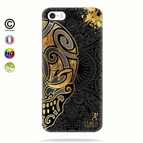 coque iphone 5-5s-5se Mid Gold Skulls