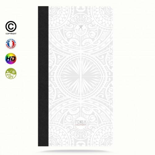 Etui Porte cartes galaxy S4 tribal frieze b&w +