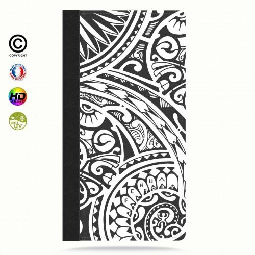 Etui Porte cartes galaxy S4 tribal frieze b&w quart