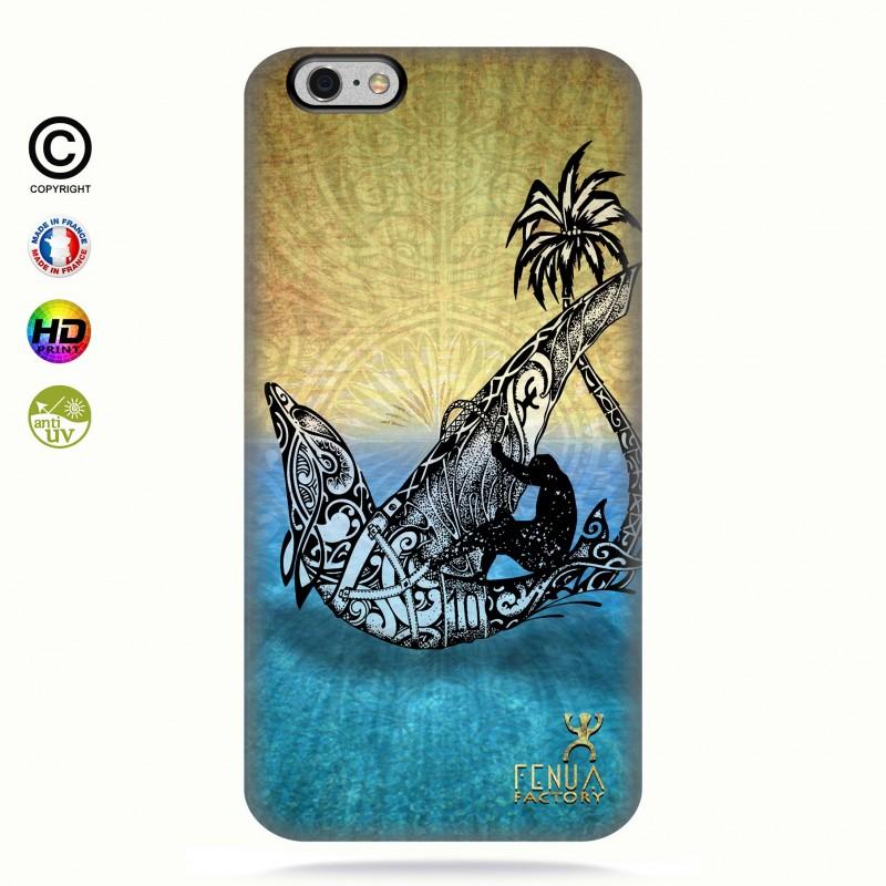 coque iphone 6+/6s+Dolphin Sailboard