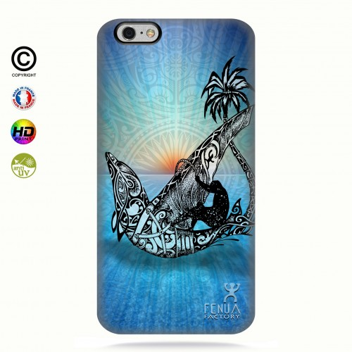 coque iphone 6+/6s+ Sunset Dolphin sailboard