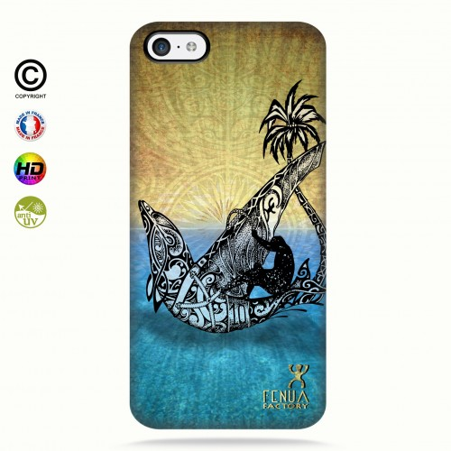 coque iphone 5C Dolphin Sailboard
