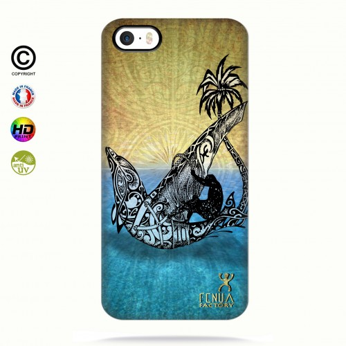coque iphone 5-5s-5se Dolphin Sailboard