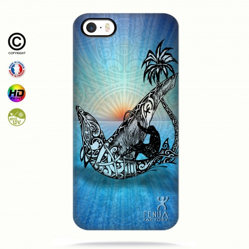 coque iphone 5-5s-5se Sunset Dolphin sailboard