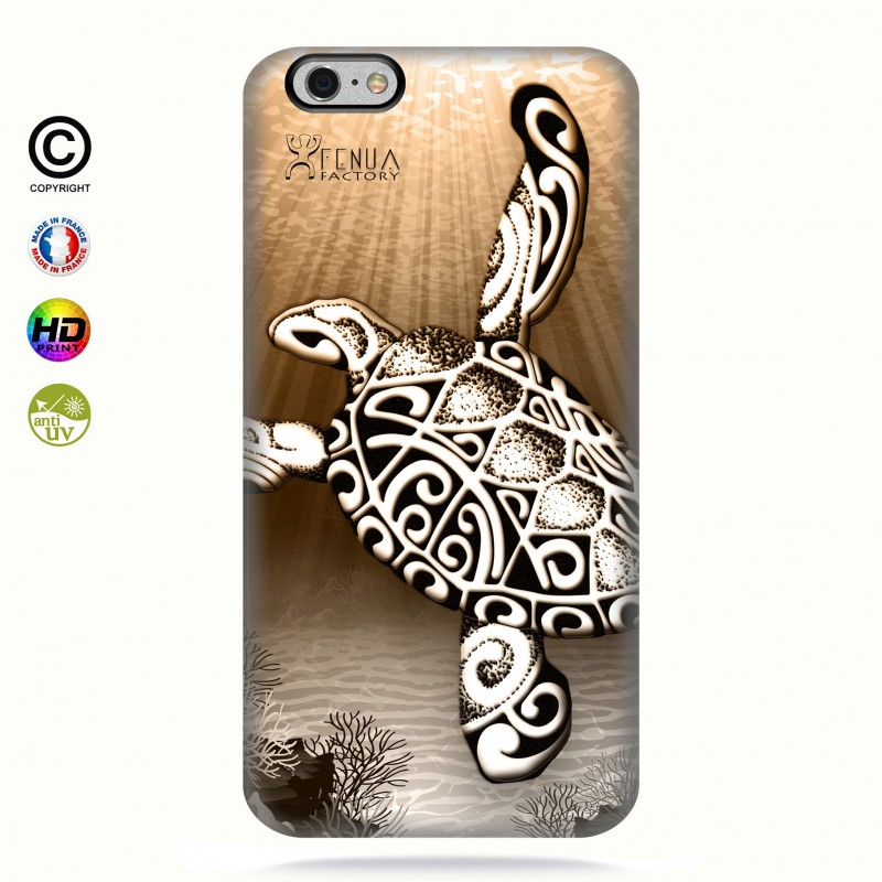 Coque iphone 6+/6s+Turtle Under the Sea