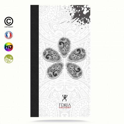 coque iphone 6-6s B&W Skull flowers