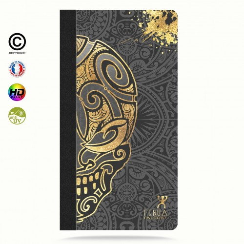 coque iphone 6-6s Mid Gold Skulls