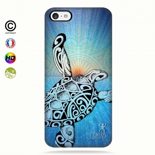 Coque iphone 5C Turtle Sunset