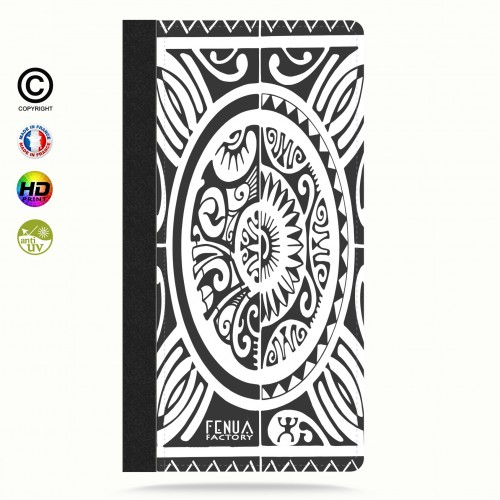 coque iphone 6-6s tribal cube b&w
