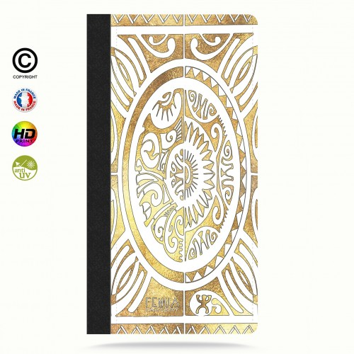 coque iphone 6-6s tribal cube gold +