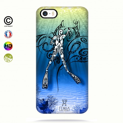 Coque iphone 5-5s-5se Diving Under the Sea