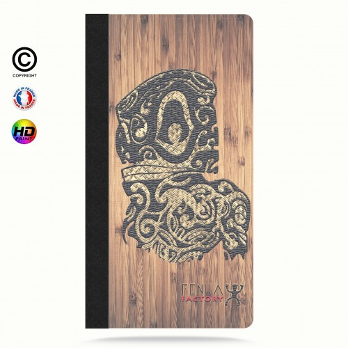 Etui Porte cartes iphone 6-6s tribal bamboo tiki