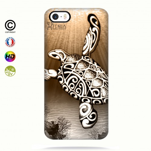 Coque iphone 5-5s-5se Turtle Under the Sea