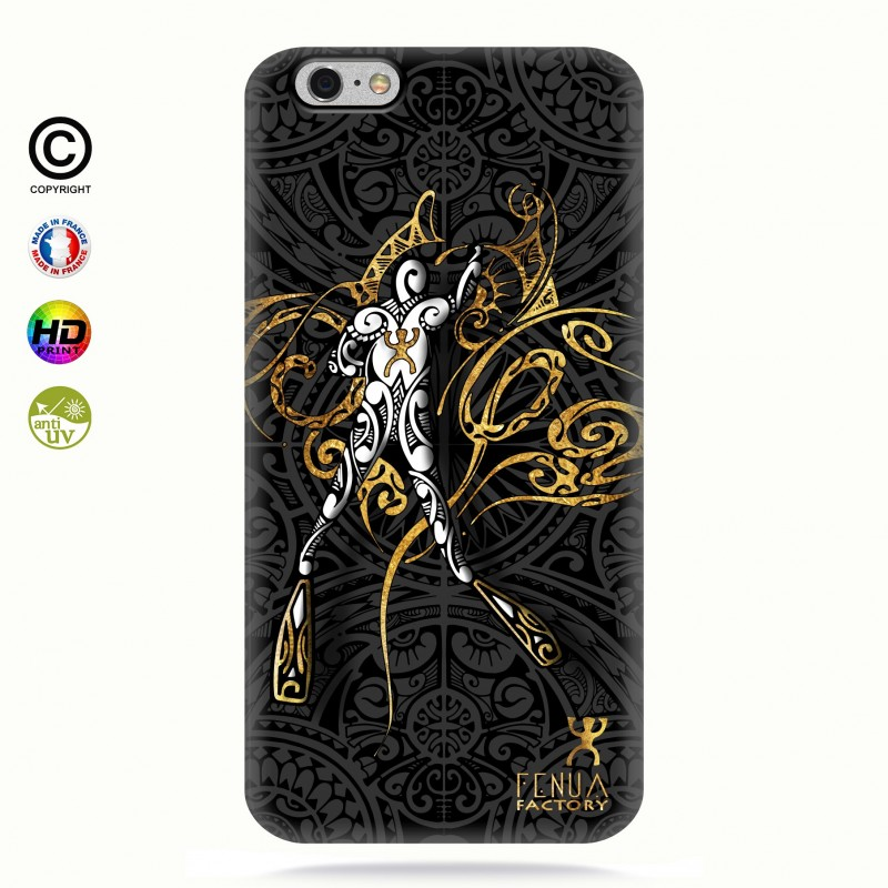coque iphone 6-6s gold diving