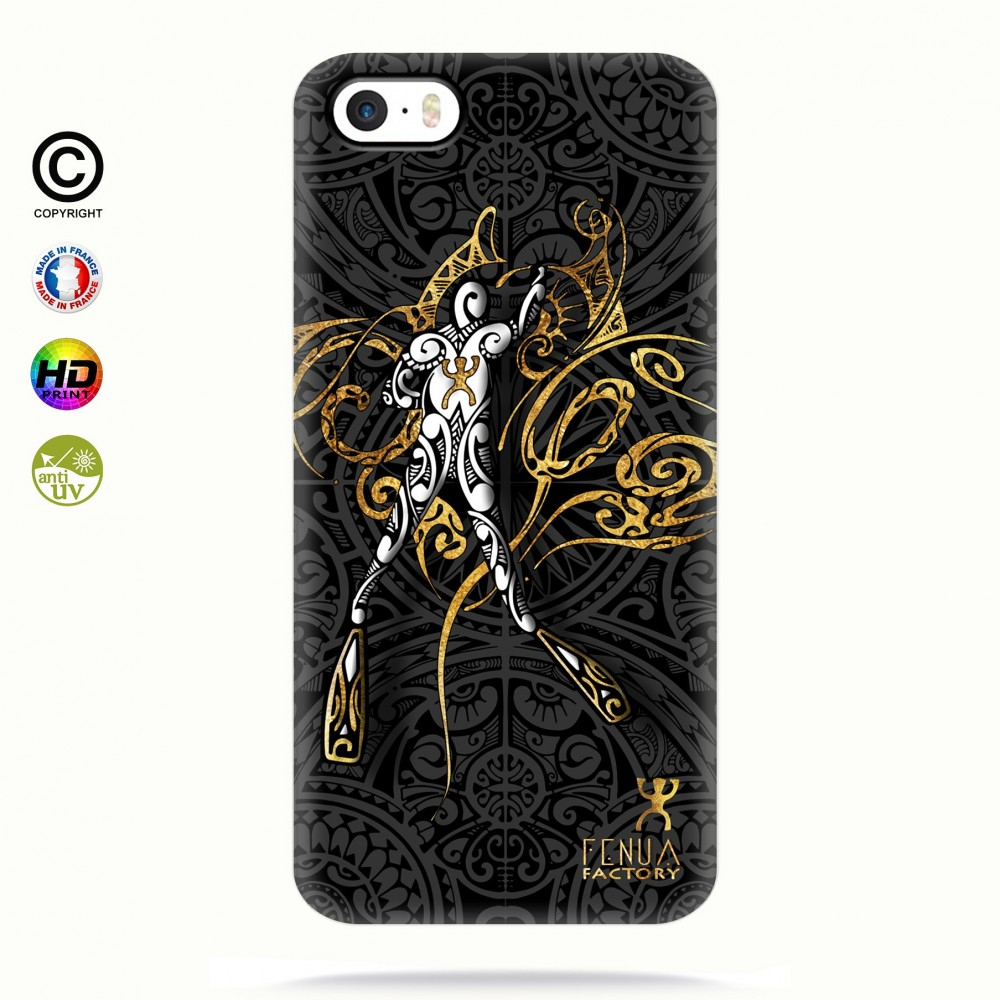 coque iphone 5 5s 5se gold diving fenua factory. Black Bedroom Furniture Sets. Home Design Ideas
