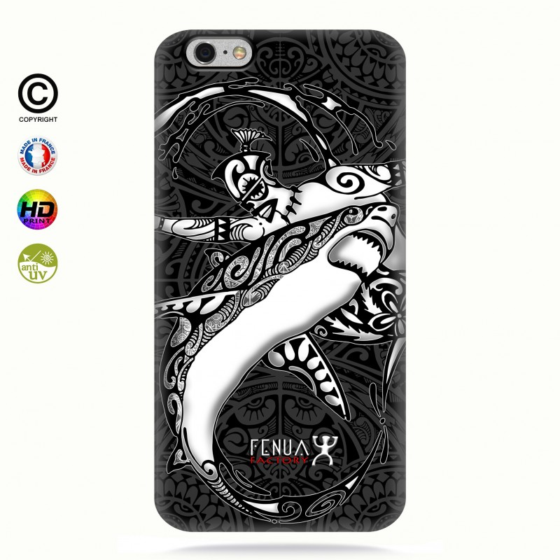 coque iphone 6+/6s+ b&w shark surfing