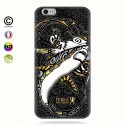 coque iphone 6+/6s+ gold shark surfing