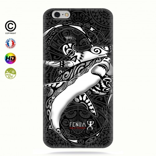 coque iphone 6-6s b&w shark surfing