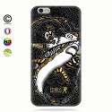 coque iphone 6-6s gold shark surfing