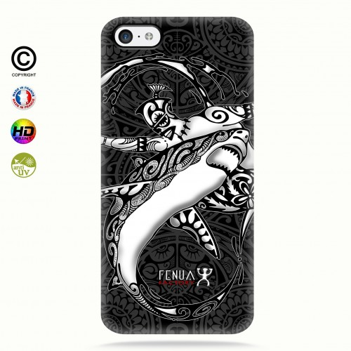 coque iphone 5c b&w shark surfing