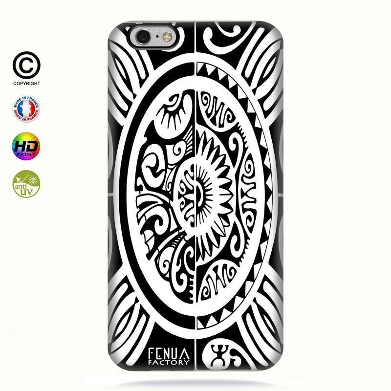 coque iphone 6+/6s+ tribal cube b&w