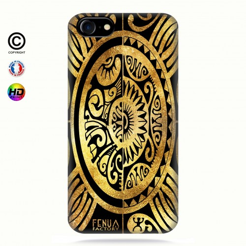 coque iphone 8 tribal cube gold