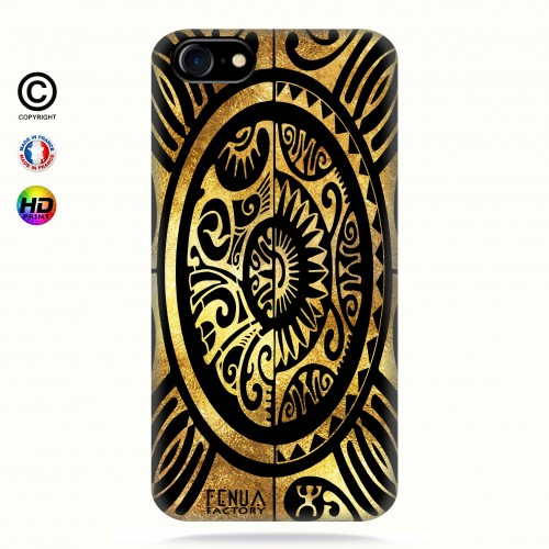 coque iphone 8 tribal cube gold +