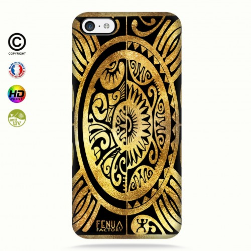 coque iphone 5c tribal cube gold