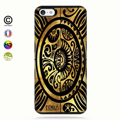 coque iphone 5c tribal cube gold +